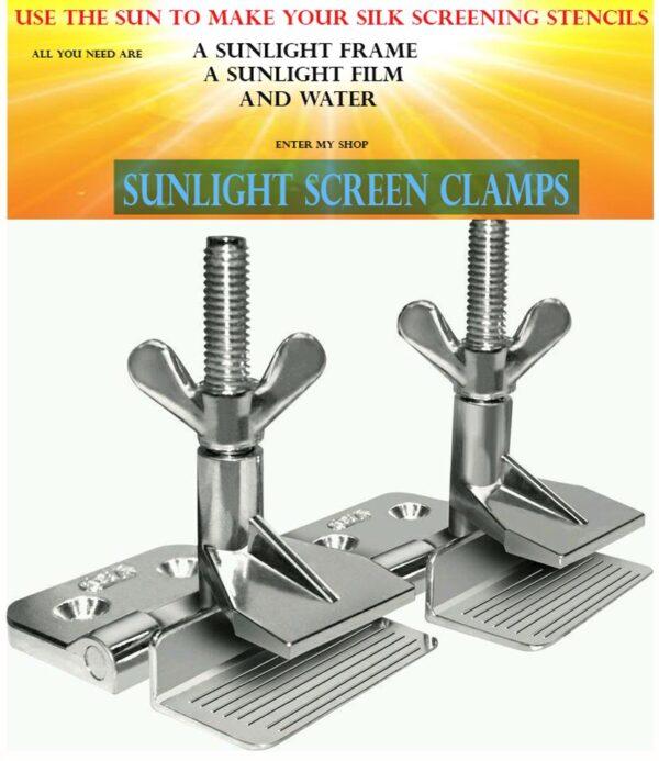 Silk Screen Clamps Pair