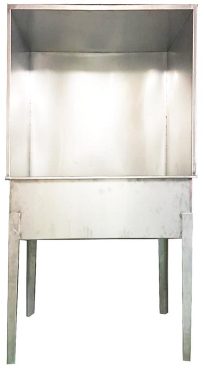 Silk screen Washout booth small
