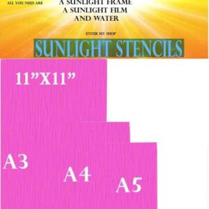 Sunlight stencil Red120t pack10