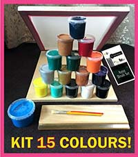 Screen Printing Kit 15 Colour A3