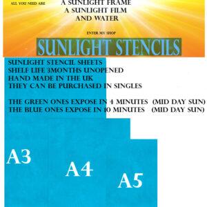 Sunlight stencils Blue 77T